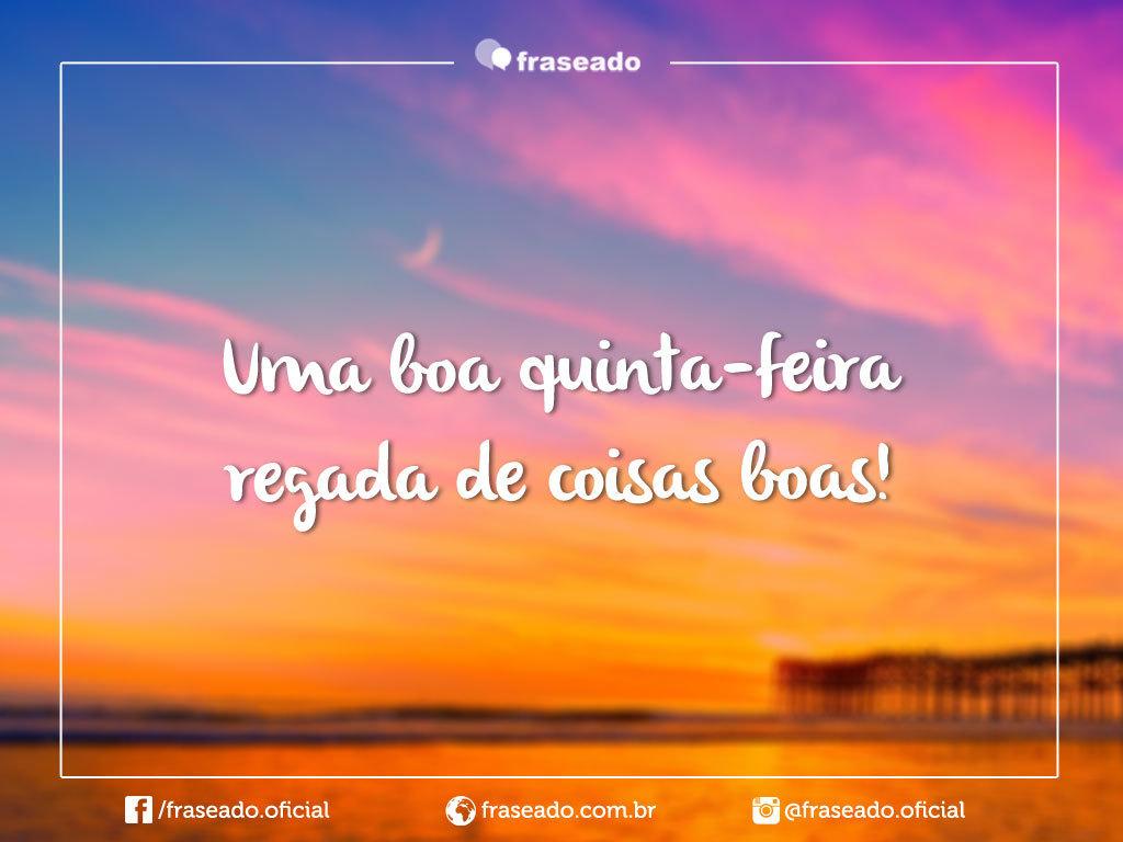 Imagens E Frases De Quinta-Feira