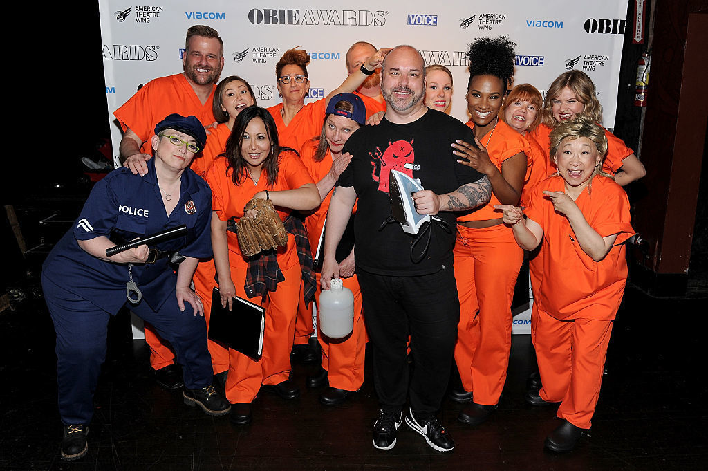 """NEW YORK, NY - MAY 23:  The cast of """"Orange is the New Black"""" poses backstage at the 61st Annual Obie Awards at Webster Hall on May 23, 2016 in New York City.  (Photo by Craig Barritt/Getty Images for American Theater Wing)"""