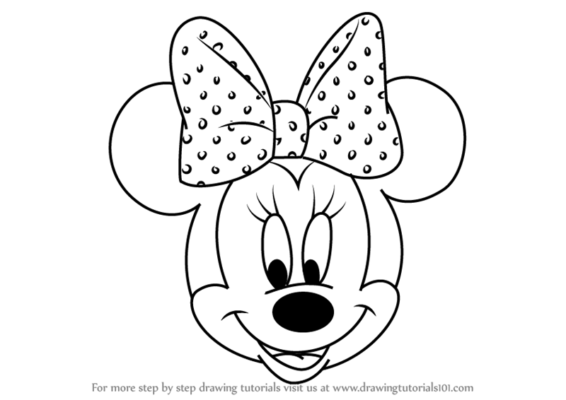how-to-draw-Minnie-Mouse-Face-from-Mickey-Mouse-Clubhouse-step-0
