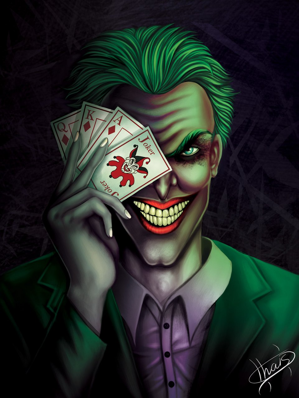 Colorful-Joker-And-Harley-Quinn-Art