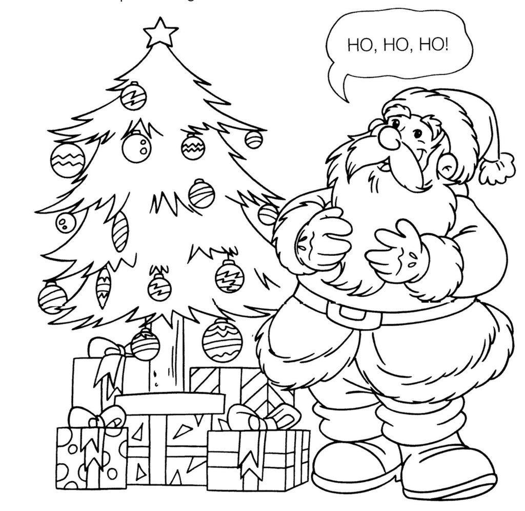 Desenhos Natal Colorir Papai Noel