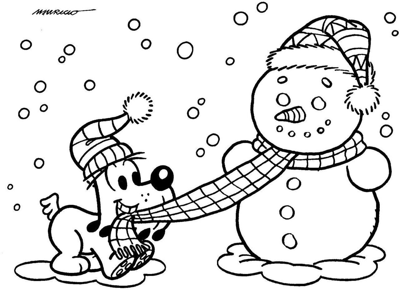 Desenhos Para Colorir Natal Bidu Turma Da Monica