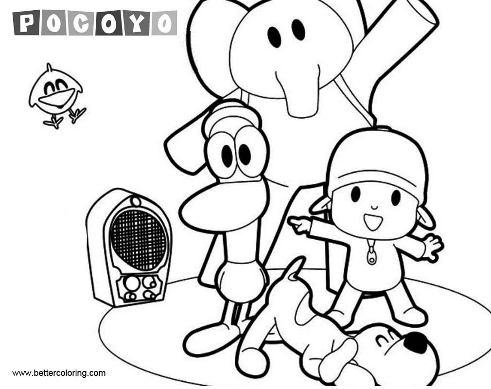 Desenhos Do Pocoyo Para Colorir Imprimir